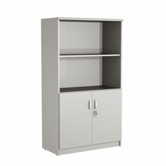 Armário estante alto 02 portas + 02 vãos
