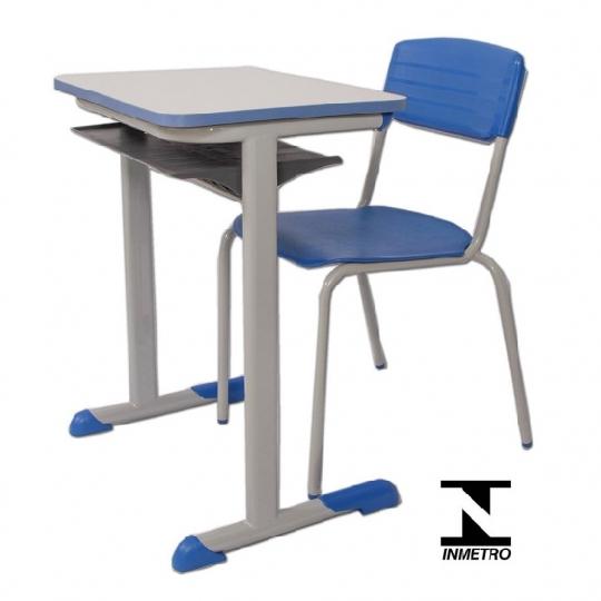 Conjunto escolar adulto azul