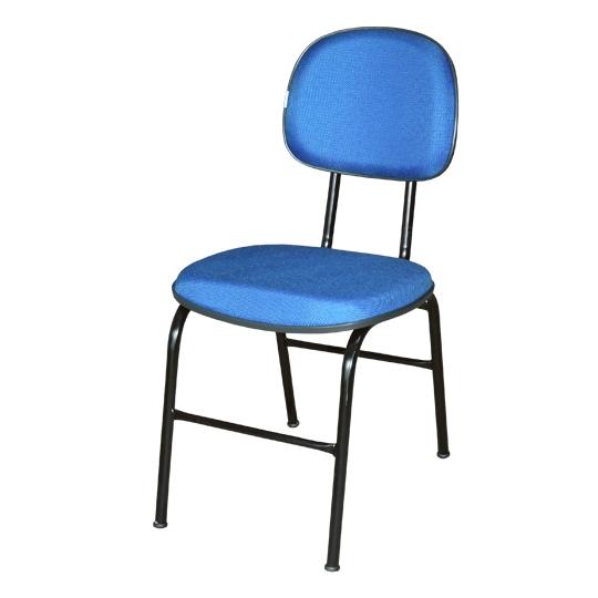 Cadeira secretária 04 pés com 02 travessas