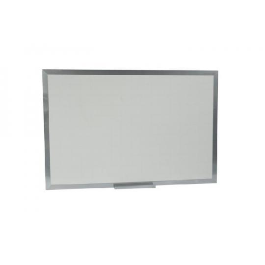 Quadro branco line (quadriculado) moldura alumínio