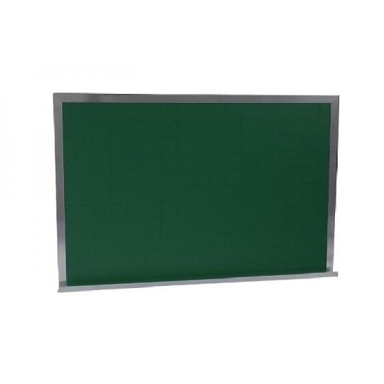Quadro verde line (quadriculado) moldura alumínio