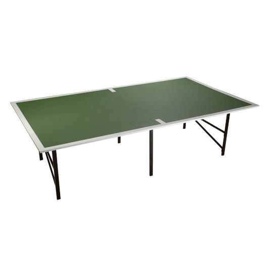 Mesa ping pong com borda de madeira
