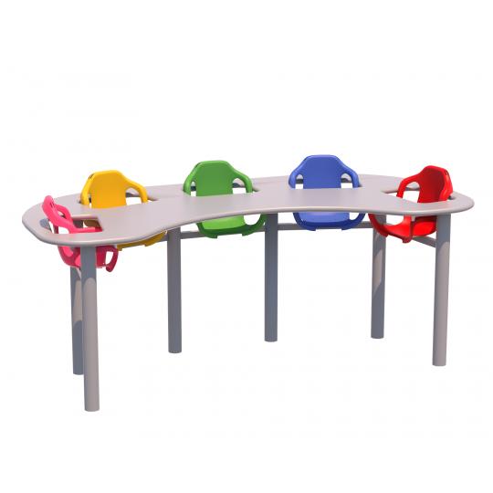 Mesa de refeição infantil 05 lugares